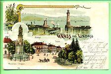AK--Lindau--1904 --Litho--Gruss aus Lindau--