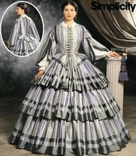 SIMPLICITY SEWING PATTERN 9761 OOP MISSES CIVIL WAR ERA DAY GOWN SIZES 6-12