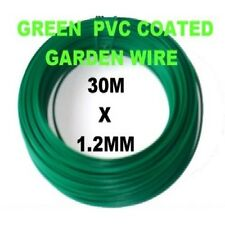 El aclaramiento * * 10 X Rollo de VERDE PVC COATED de jardín de alambre 30m X 1.2mm - * 300 M * total