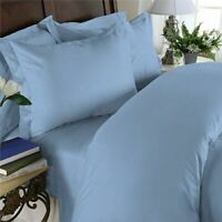 1000TC Egyptian Cotton Blue Solid DuvetCover/Sheet Set/Flat/Fitted/Pillow Size