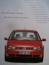 VW Golf4 Colour Concept 11/1998 Rarität Brochure