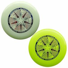 NEW Discraft ULTRA-STAR 175g Ultimate Frisbee Disc (2 Pack) GLOW/YELLOW