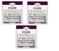 Eylure Naturalites Natural Volume Fake False Eyelashes Eye Lash 020 Pack - 3