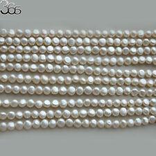 "10 Strands Natural 6-7mm Freeform Biwa Baroque Freshwater Pearl Beads Strand 15"""