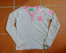 PalmTree Shirt Gr. 152 grau rosa pink Longsleeve 13 - 14 Jahre
