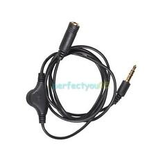 3.5mm M/F Headphone Earphone Audio Adapter Extension Cable with Volume Control