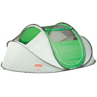 Green 4-Person Pop-Up Tent Lightweight Outdoor Camping Hiking Instant Shelter