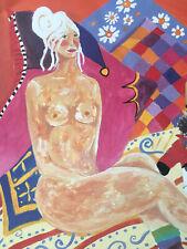 "PONCKLE FLETCHER 1934-2012 St Ives ""Self Portrait with Leg Warmers PRINT Cats"