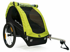 Burley Minnow Compact Fold Bike Bicycle Trailer For Single Kid Child Green New