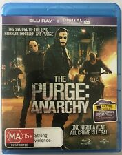 The Purge Anarchy Blu Ray VGC Movie 🍿 Rated MA15+ Region B Thriller Action