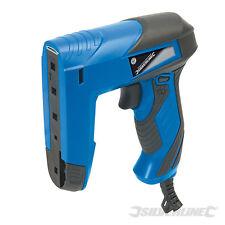 Silverline 45w Electric Stapler Staple & Brad Nail Nailer Tacker Gun & Staples