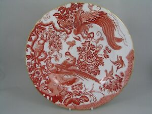 """ROYAL CROWN DERBY RED AVES 10 5/8"""" DINNER PLATE."""