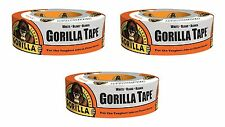 """Gorilla 6025001-3 Duct Tape (3 Pack), 1.88"""" x 30 yd., White"""