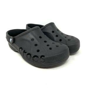 Crocs Unisex Clog Shoes Black Cutout Round Toe Sling Back Men 6 Women's 8