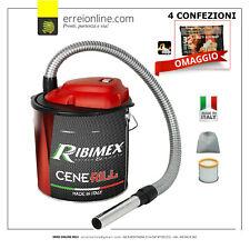 Aspiracenere elettrico Ribimex Cenerill 1000W stufe a pellet e caminetti 18lt