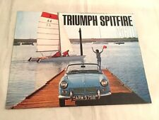 TRIUMPH SPITFIRE MKII - catalogue dépliant brochure, catalog prospekt, no copy