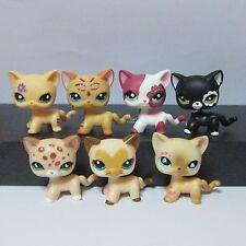 7pc Littlest Pet Shop LPS Toys Kitty Cat #852 #2249 #1962 #2118 #2291 #3573 #816
