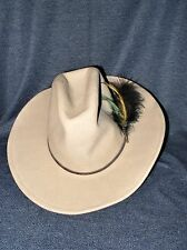Vintage Sheplers by Bailey Western Wichita Men's Small 4X Tan Wool Cowboy Hat