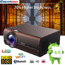 4K WIFI BT Full HD 1080P LED Video Proyector Android 8GB HDMI USB Home Teatro ES