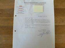 HT176-NORTIER EN HARMSZE UITGEVERIJ 1963 REDACTIE HAND SIGNED AUTOGRAPH