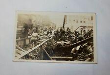 RPPC 1936 FLOOD TYRONE PA. S T.PATRICKS DAY REAL PHOTO POSTCARD 10 ST. BRIDGE 3