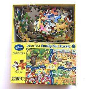 Disney Large Look & Find Puzzle 300 Pcs Dumbo Lion King Dalmatians Jungle Book