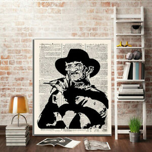 13X18 Vintage Kraft Horror Movie Character Wall Art Poster Painting Home Decor