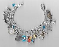 NANCY DREW  Charm Bracelet  Altered Art  /w Magnifying Glass & Flashlight   Bag