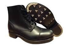 Black Leather Ammo Ammunition Dress Boots - Size 15 Large, British Army ^. NEW