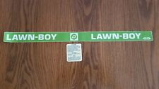 Reproduction lawn Boy buttercup model 3003 shroud 2 piece adhesive decal set.