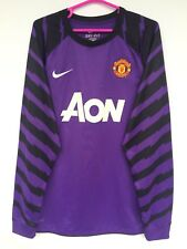 MANCHESTER UNITED 2010 2011 NIKE GOALKEEPER FOOTBALL SHIRT JERSEY KIT PURPLE