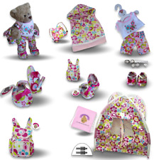 Teddy Bear Clothes fits Build a Bear Floral -Tent Sleeping Bag Outfit Shoes