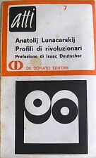ANATOLIJ LUNACARSKIJ PROFILI DI RIVOLUZIONARI DE DONATO 1968