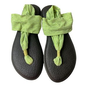 Women's Sanuk Yoga Sling Back Sandals Size 8