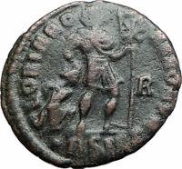 GRATIAN 367AD  Authentic Ancient Roman Coin CHRISTIAN CHI-RHO Labarum i80180