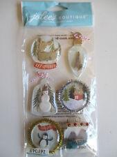 Jolee's Boutique 3D stickers - Ornament Snowglobes - Christmas