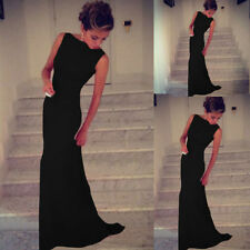 Sexy Black Sleeveless Prom Ball Cocktail Party Formal Evening Dress ❤Aus❤