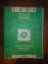 1989 DODGE SPIRIT & ACCLAIM SHOP SERVICE MANUAL (SY1010)