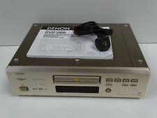 Denon DVD-2800 multi región DVD y CD PLAYER + Red De Plomo Y Manual