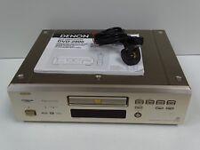 DENON DVD-2800 Multi Region DVD & CD Player + Mains Lead & Manual