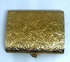 Vintage Gold Tone Cigarette Case W/ Raised Design