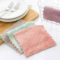 Super Absorbent Microfiber Household Cleaning Kitchen Dish Cloth Towel K0L0