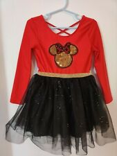 Girls Disney Figure Skating Dance Dress Tutu Black & Red Minnie Mouse 4T
