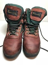 Browning Vintage Leather Hiking Ankle Boots Reddish Brown Mens Size 8.5