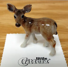 ➸ LITTLE CRITTERZ Forest Animal Miniature Figurine Deer Doe Serenity
