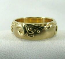 14k Solid Gold Adorned Wedding Band Ring   Size 6.5   SAVE 1400.  #R641