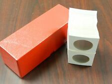 "Red Storage Box for  2.5"" x 2.5"" Holders (100) Holders Included for Silver Eagle"