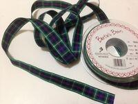 Berisfords MACKENZIE  Tartan ribbon Scottish Approved Design - 7 10 16 25 40mm