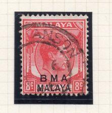 Malaya GVI 1945 Early Issue Fine Used 8c. Scarlet Postmark Teluk 119117