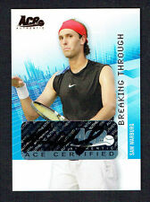 Sam Warburg signed autograph auto 2007 ACE Authentic Tennis Card